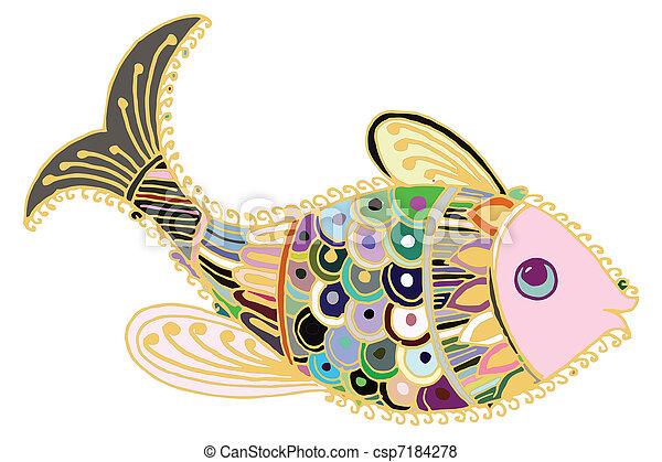 Artistic fish - csp7184278