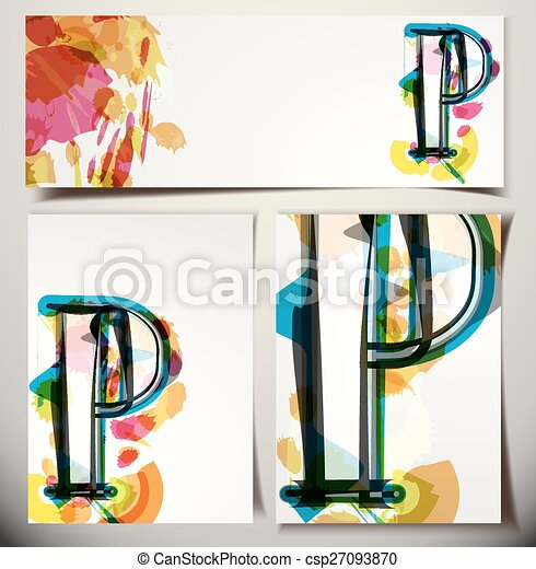 Artistic Greeting Card Letter P