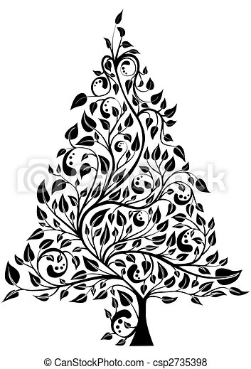 Artistic pine tree - csp2735398