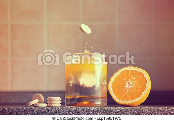 Artistic shot of vitamin C family  - csp15951975