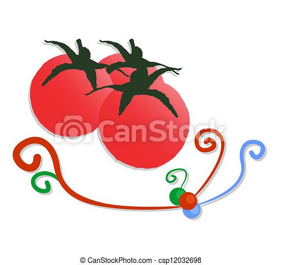 Artistic tomatoes - csp12032698