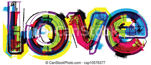 Artistic word love - csp10576377