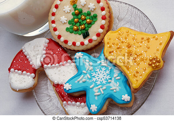 Christmas Cut Out Cookies.Artistically Decorated Christmas Cut Out Sugar Cookies