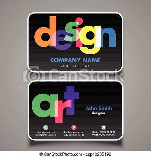 Artists business card 1008 modern business card design for designer artists business card 1008 csp40205192 colourmoves