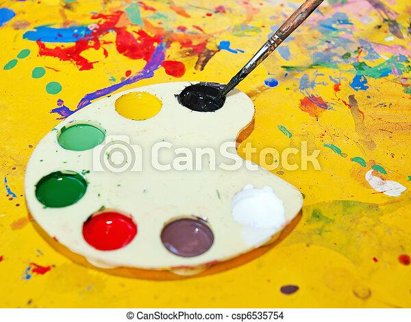 Artist's palette  - csp6535754