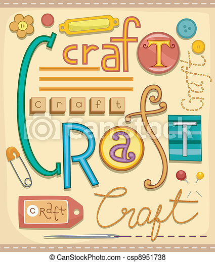 Arts and Crafts - csp8951738
