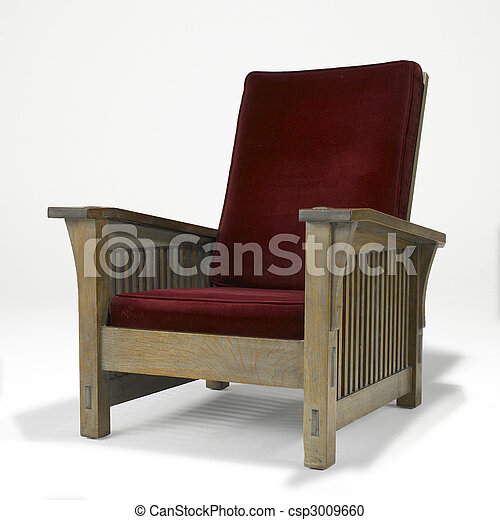 arts and crafts oak chair - csp3009660