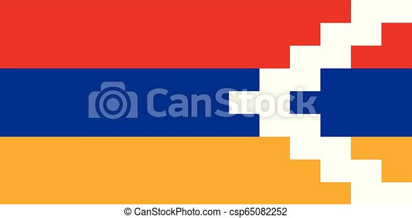 artsakh, εθνική σημαία  - csp65082252