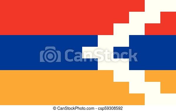 artsakh, εθνική σημαία  - csp59308592