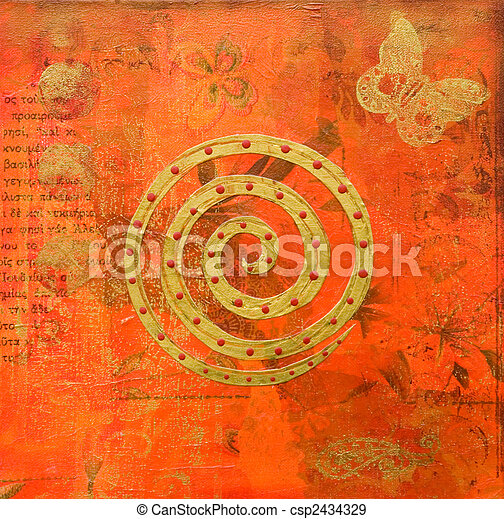 artwork indian style - csp2434329