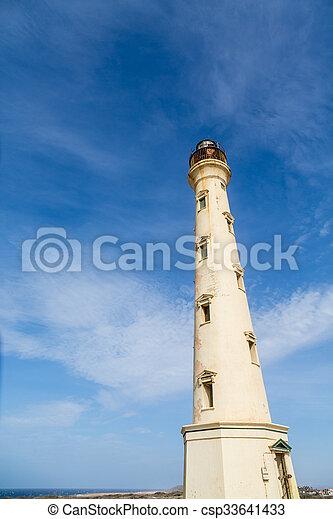 Aruba Lighthouse in Need of Paint - csp33641433