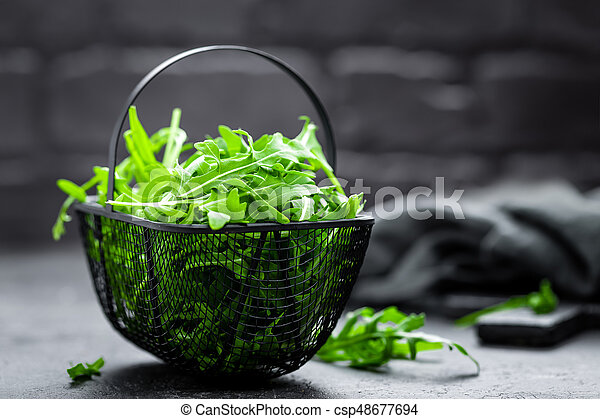 Arugula leaves, rucola - csp48677694