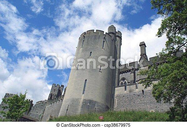 arundel, angleterre, château - csp38679975