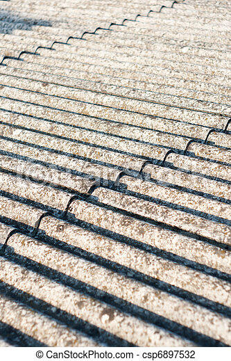 Asbest Eternit Dach Altes Verwahrlost Hulle Dach