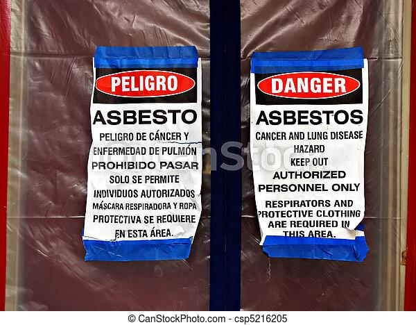Asbestos Abatement Signs - csp5216205