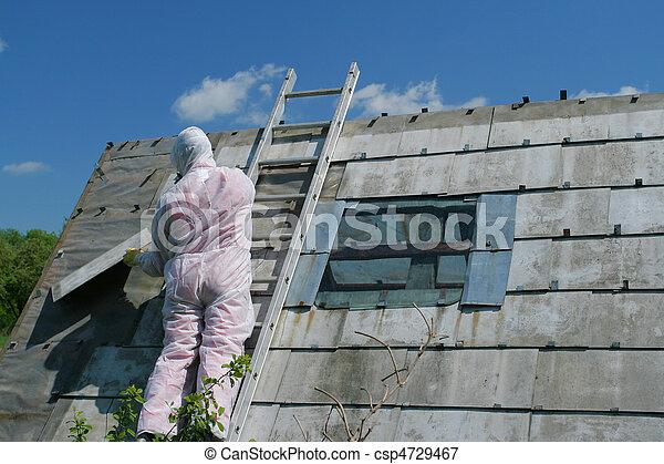 Asbestos removal worker - csp4729467