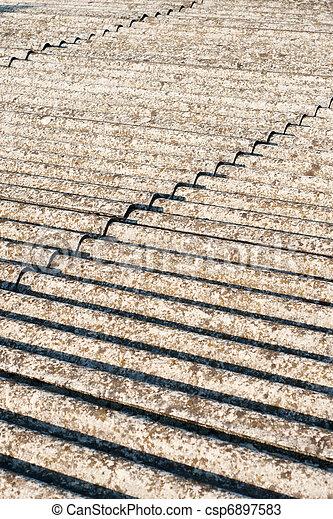 asbestos roof eternit - csp6897583