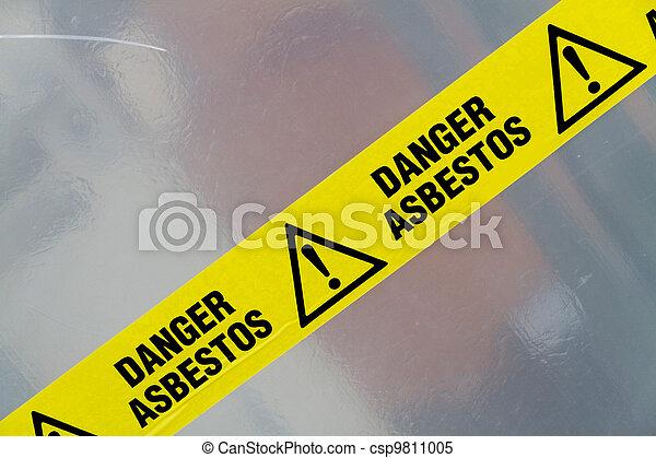 Asbestos warning sign - csp9811005