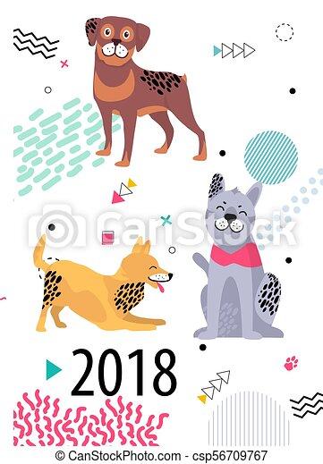 Calendrier Dessin Anime.Ascendance Couverture Chiens 2018 Calendrier Dessin Anime