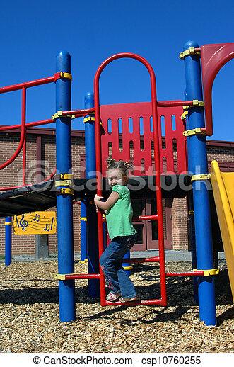Ascending Playground Ladder - csp10760255