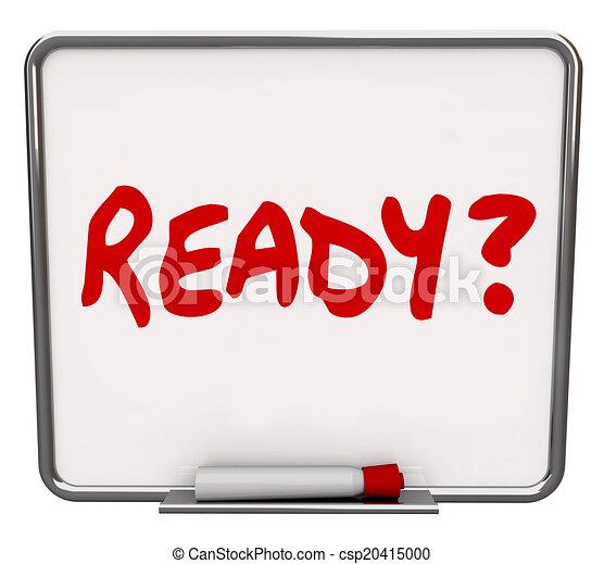 asciutto, prontezza, parola, domanda, apparecchiato, preparati, cancellare, asse, pronto - csp20415000