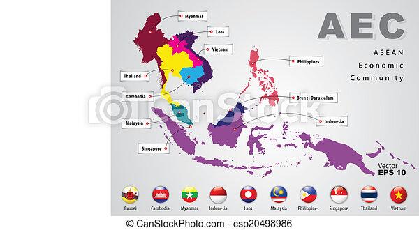 ASEAN Economic Community - csp20498986