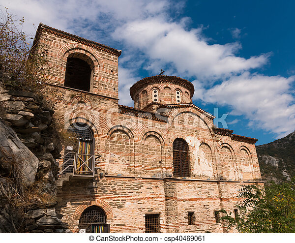 Asen's Fortress in the Rhodope Mountains, Bulgaria - csp40469061