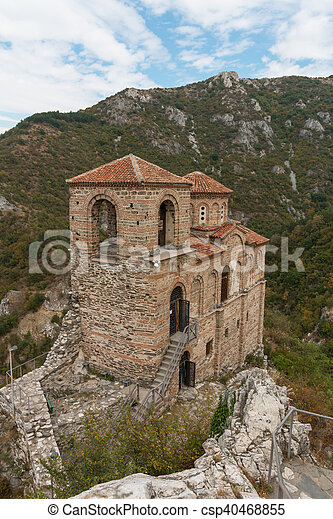 Asen's Fortress in the Rhodope Mountains, Bulgaria - csp40468855