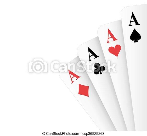 Cuatro ases de póquer - csp36828263