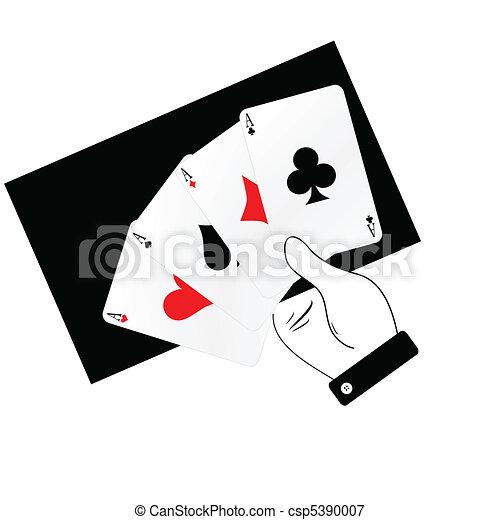 Ases de póquer en ilustración - csp5390007