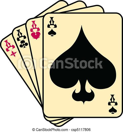 Los ases pican arte de póquer - csp5117806