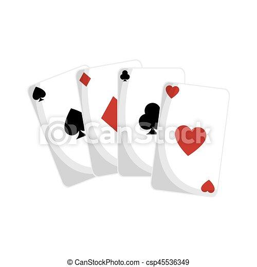 El ícono de las cartas de ases - csp45536349