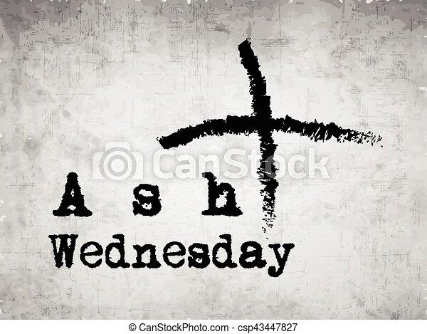 Ash Wednesday Background - csp43447827