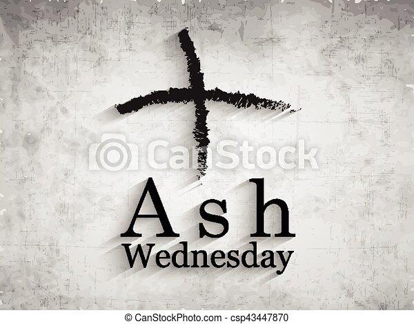 Ash Wednesday Background - csp43447870