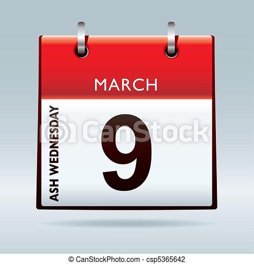 Ash Wednesday Calendar - csp5365642