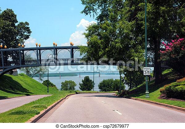 Ashburn Coppock Park Connection Bridge - csp72679977