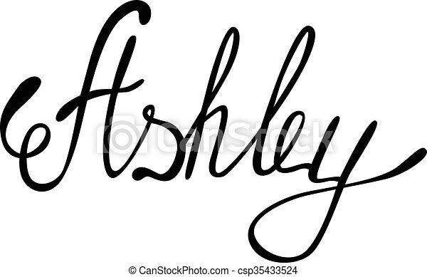Vector Ashley Name Lettering
