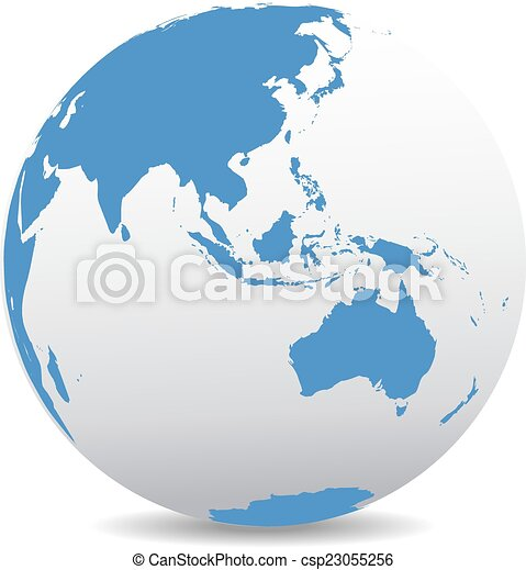 Asia and australia global world Icon of the world globe clipart
