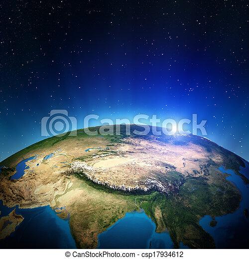 asia, espacio - csp17934612