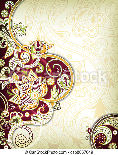 Asia Floral Background - csp8067049