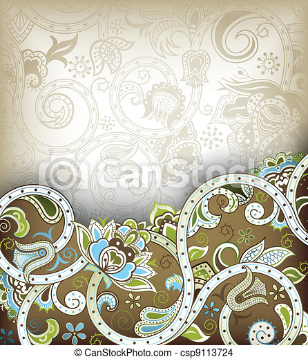 Asia Floral Background - csp9113724