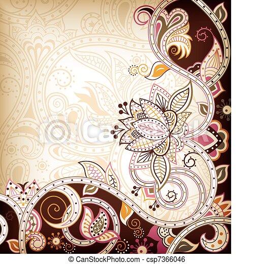 Asia Floral - csp7366046