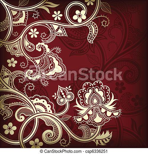Asia Floral - csp6336251
