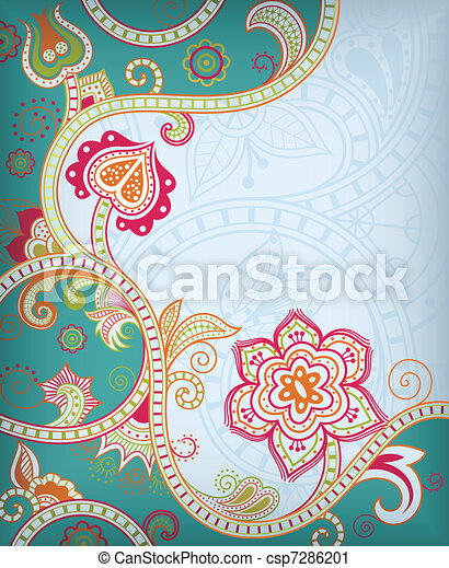 Asia Floral - csp7286201
