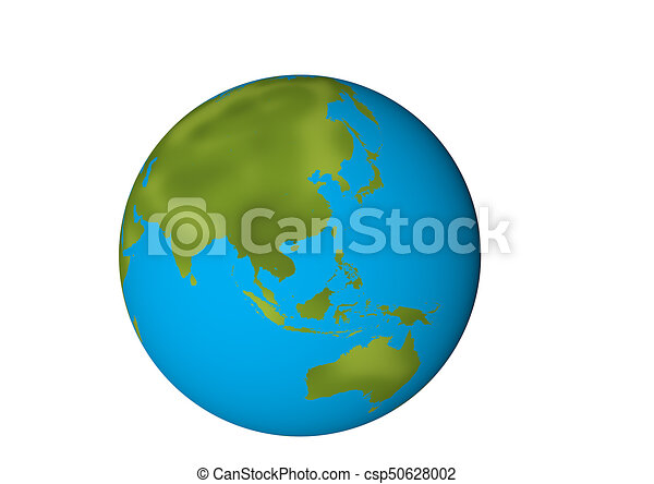 Asia Globe - csp50628002