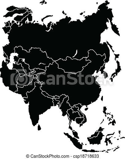 The Continent Of Asia Map.Asia Map A Chunky Map Of The Continent Of Asia Map Source Http