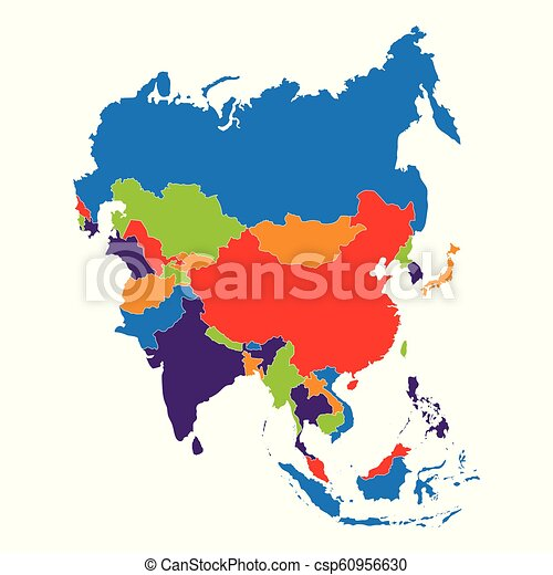 Map Of Asia Vector.Asia Map Vector