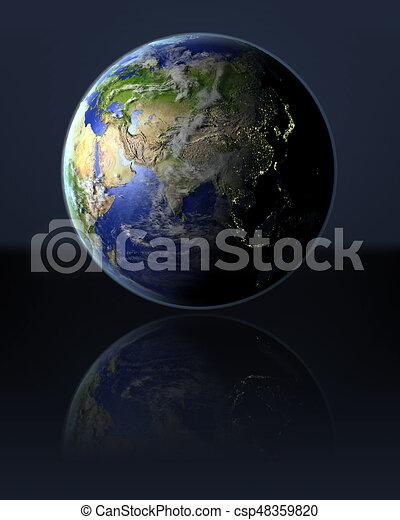Asia on globe - csp48359820