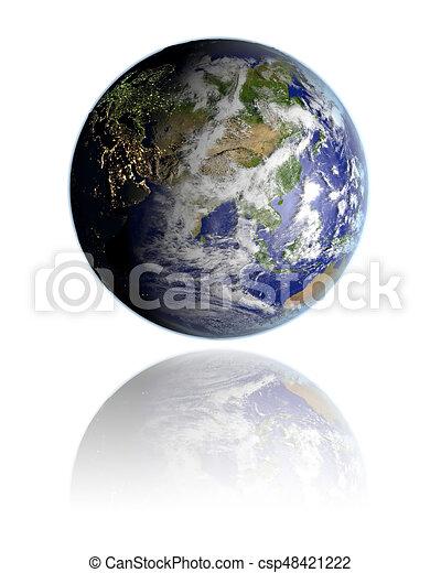 Asia on globe - csp48421222
