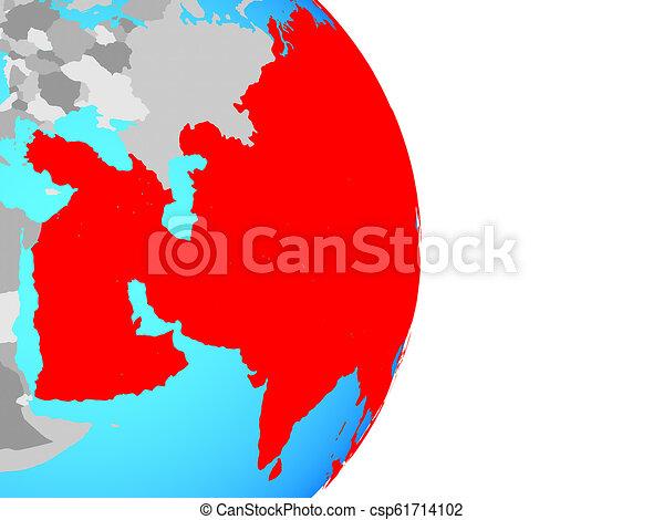 Asia on globe - csp61714102